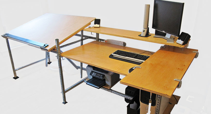 This Arrangement Juxtaposes The Analog Drafting Table (left) With The  Digital Work Station ...